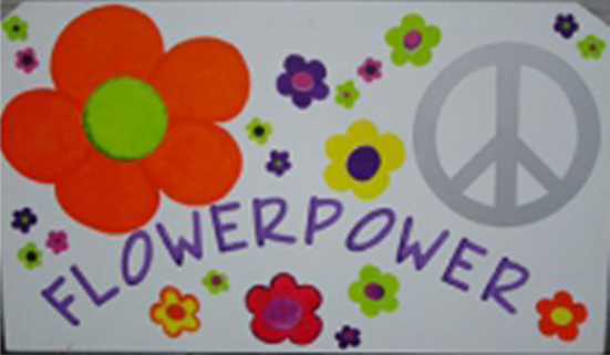 Decoratie Flower Power decorstuk - huren
